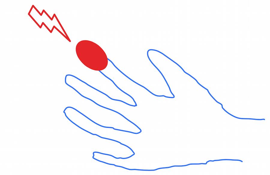 マウスの指