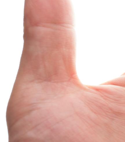 親指縫い跡